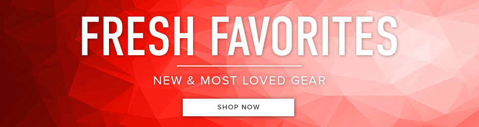 Fresh Favorites: new & most loved gear. Click to shop now.